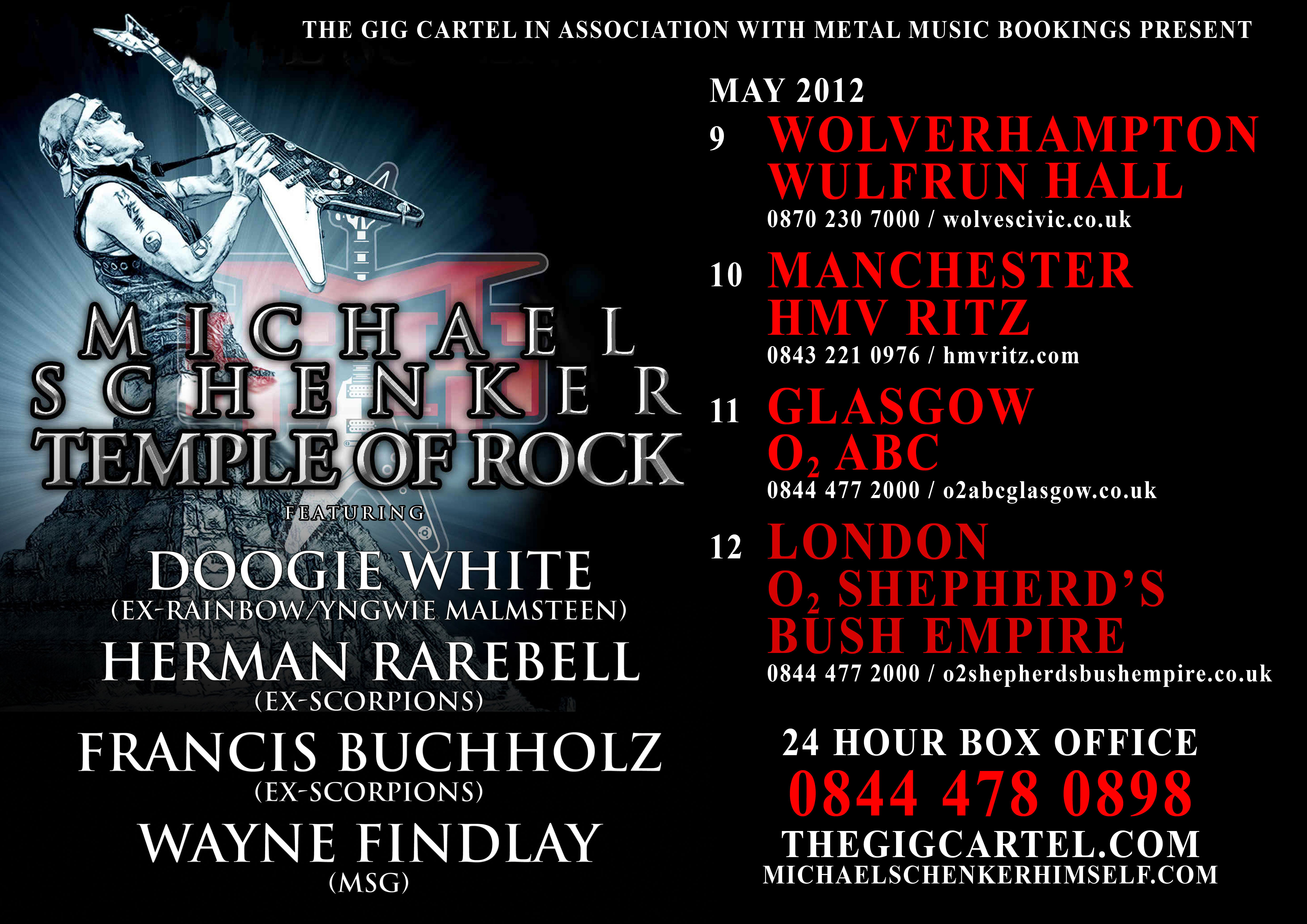 Doogie White on Tour with Michael Schenker